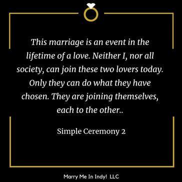 simple wedding ceremony script    wedding