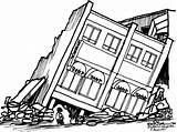 Earthquake Drawing Afraid Clipart Sketch Template San Very Coloring Drawings sketch template