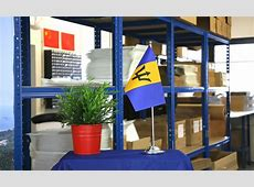 Satin Table Flag Barbados 6x9