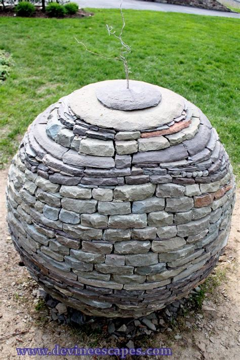 stacked sculpture amazing dry stone garden spheres by devin devine 171 twistedsifter