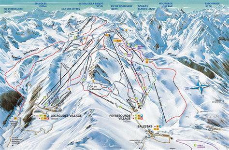 location chambre a plan des pistes de peyragudes guide des stations ski flv fr