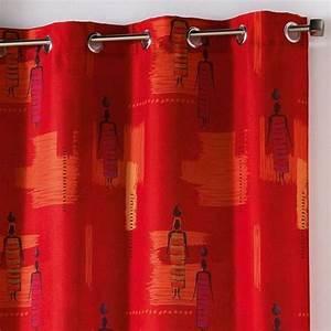 Rideau Voilage Rouge : rideaux rideau et voilage eminza ~ Teatrodelosmanantiales.com Idées de Décoration