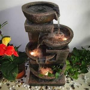 fontaine d39interieur cascade 4 pots eclaires sur grossiste With grande fontaine d interieur