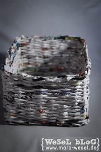 Upcycling Ideen Papier : zeitungsst nder korb aus papier upcycling basteln pinterest papier basteln und korb ~ Eleganceandgraceweddings.com Haus und Dekorationen