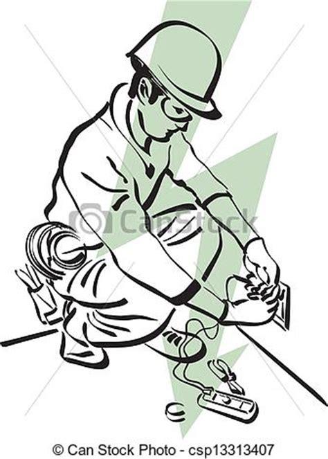 11271 electrician clipart black and white vecteur 233 lectricien banque d illustrations