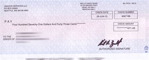 amazon check cheque associates payment pays selling withholding