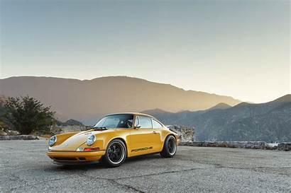 Porsche Singer 911 Targa Orange Wallpapers Vehicle