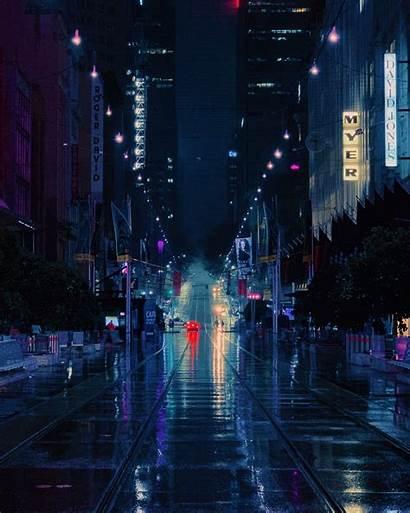 Cyber Unsplash Wallpapers Night Street Civilization Road