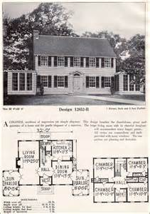 colonial homes floor plans absolutely symmetrical colonial revival c l bowes company 1920s vintage house plans