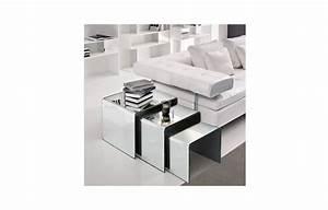 Table Basse Miroir : table basse en verre effet miroir ~ Melissatoandfro.com Idées de Décoration