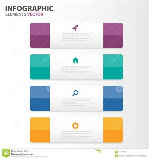 Colorful Infographic Presentation Template Brochure Flyer Colorful Infographic Elements Presentation Templates Flat