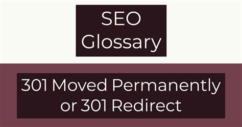 301 Moved Permanently Or 301 Redirect