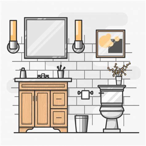Isometric Bathroom Interior Design Vector  Free Download