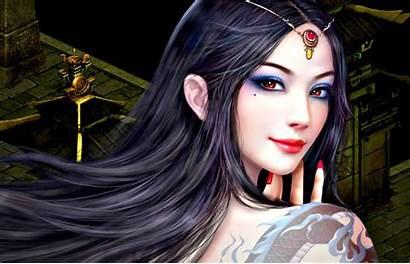 Fantasy Face Attractive Digital Painting Eyes Portrait