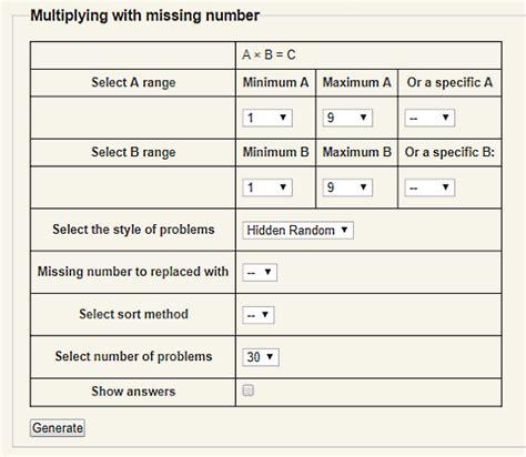 5 online math worksheet generator websites free