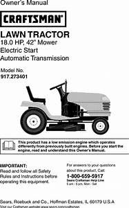 Craftsman 917 273401 Users Manual