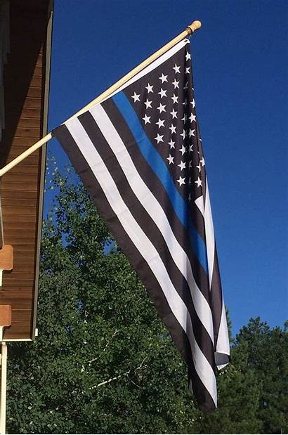 Flag Thin Line American Police Support Enforcement