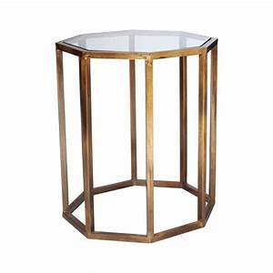 octagon side table small antique brass traditional and With small brass and glass coffee tables
