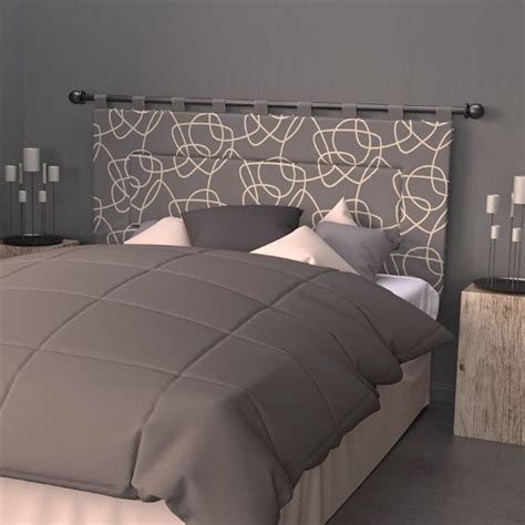Opter pour la tête de lit tediber, c'est vous simplifier la vie. Tête de lit (160 cm) Graphique Gris - Linge de lit - Eminza