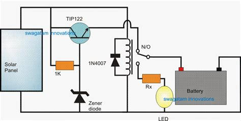 solar light circuit diagram automatic solar light circuit using a relay changeover
