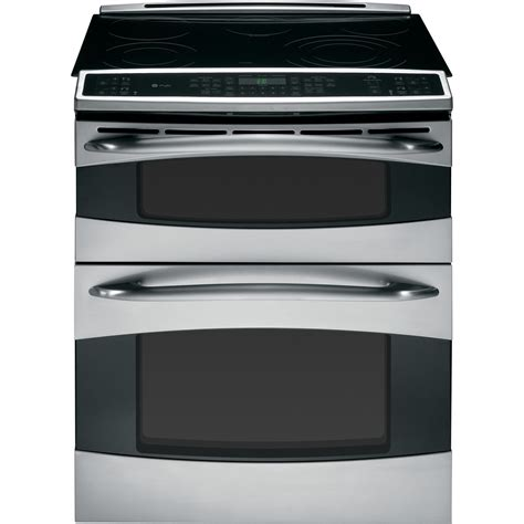 ge profile series  double oven   electric range  convection stainless steel