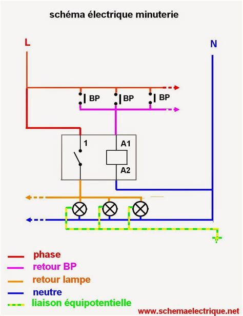 schema electrique gratuit sch 233 ma electrique minuterie unipolaire branchement et installation d une minuterie a 3 fils