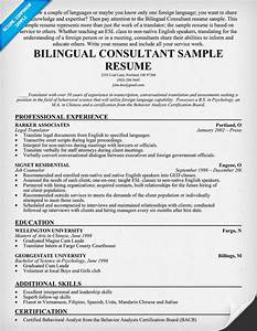 example resume april 2015 With bilingual resume