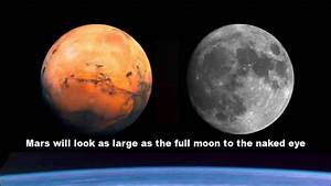 Sorry, Mars won't look as large as the moon. Ever.