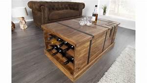 Table Basse Coffre Bar : table basse coffre de rangement en bois nicolo en bois et m tal table basse de haute qualit ~ Teatrodelosmanantiales.com Idées de Décoration
