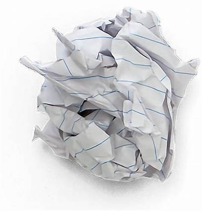Paper Wad Trash Crumpled Garbage Background Pngkey