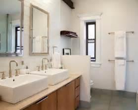 bar bathroom ideas chrome finished towel bar for modern bathroom ideas with grey ceramic floor tiles