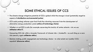 Climate Change Policy And The Moral Agency Of Ccs