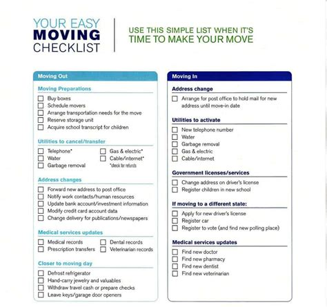 5+ Moving Checklist Templates – Word Templates