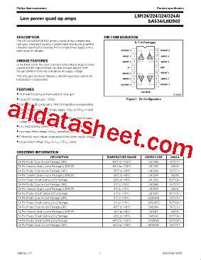LM324 Datasheet(PDF) - NXP Semiconductors