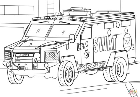 truck coloring pages swat truck coloring page free printable coloring pages