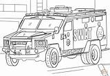 Coloring Police Swat Truck Pages Armored Elite Picolour sketch template