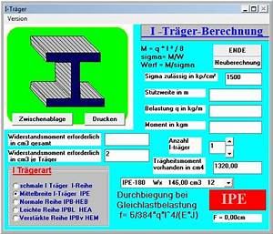 Träger Berechnen : berechnung von stahl i tr gern download ~ Themetempest.com Abrechnung