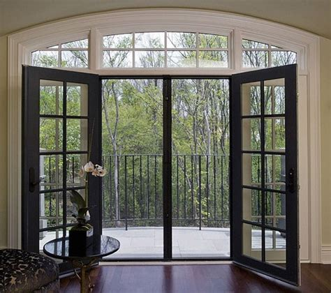 black sliding glass patio doors french doors patio