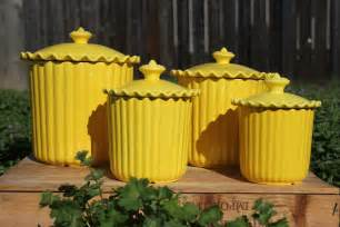 kitchen canister sets ceramic cheery yellow ceramic kitchen canisters set of 4