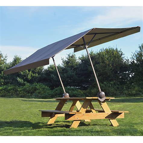portable clamp  picnic table canopy   sq ft  shade light rain