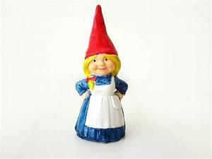 Girl Garden Gnome Figurine · A Clay Gnome · Pottery on Cut