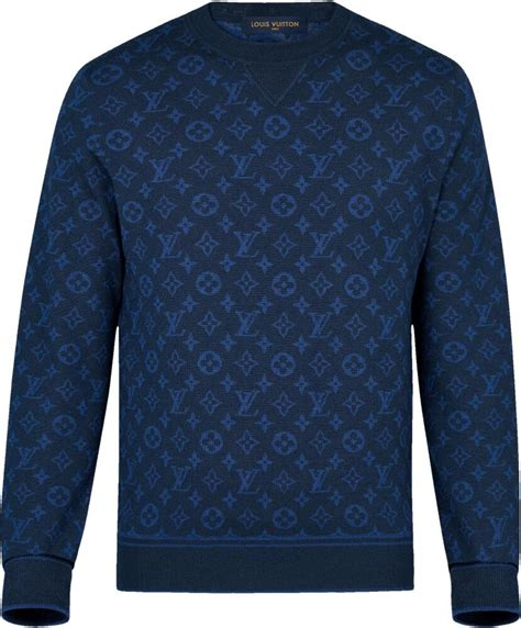 louis vuitton full monogram blue sweatshirt incorporated style