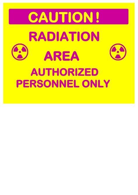 caution radiation area auth personnel printable