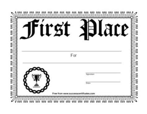 1st Place Certificate 1st Place Certificate 6 Certificate Templates Teachers