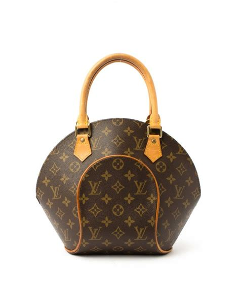 louis vuitton preowned brown monogram ellipse pm top handle bag  brown lyst