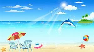 Cartoon Beach Scene Clipart (47+)