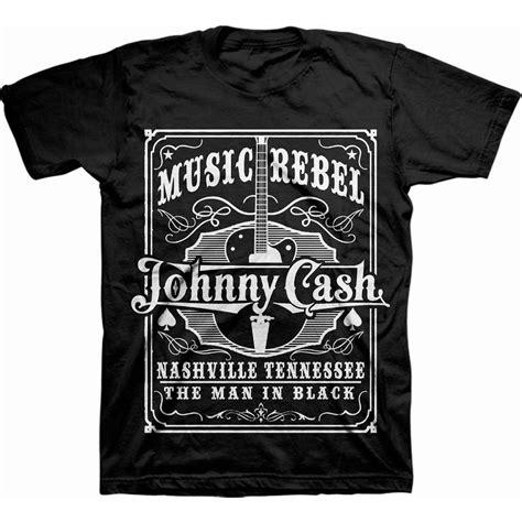 johnny cash  rebel black  shirt  rockoff trade