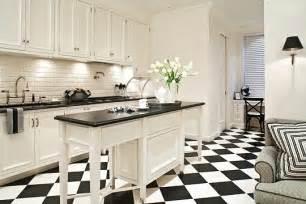 black and white kitchen floor ideas hermosas cocinas en color blanco y negro