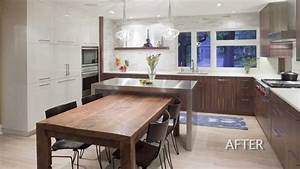 Kitchen Design - Remodel of a 1960's house creates a well