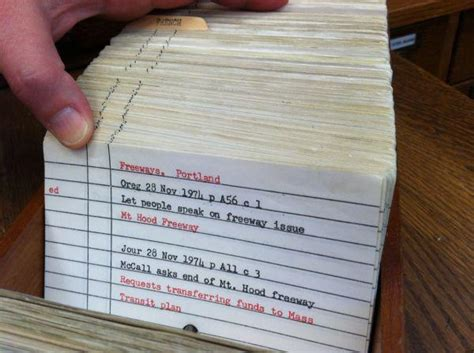 library index card research with historical portland newspapers beyond the